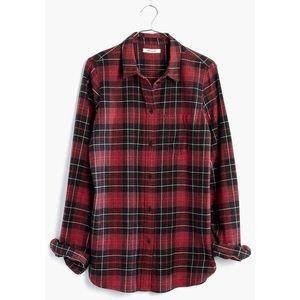 Madewell   burgundy slim fit flannel